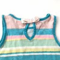 Csíkos kislány póló (104)