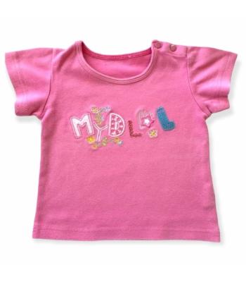 Rózsaszín kislány póló (74-80)