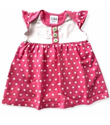 Pöttyös kislány ruha (62-68)