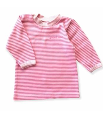 Csíkos kislány pulóver (56-62)