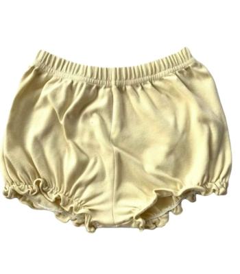 Halványsárga kislány rövid nadrág (68-74)