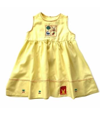 Sárga kislány ruha (80-86)