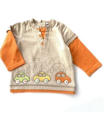Autós kisfiú pulóver (68)