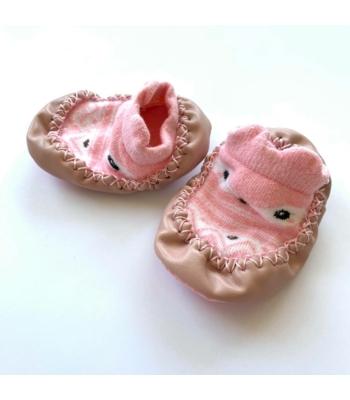 Rózsaszín kislány zoknicipő (56-68)