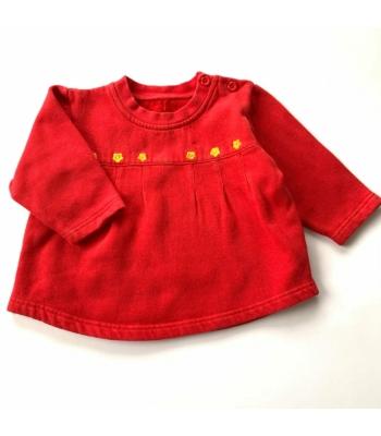 Piros kislány pulóver (74)