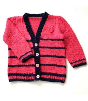 Pink kislány kardigán (92)
