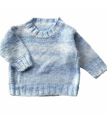 Kék kisfiú pulóver (80)