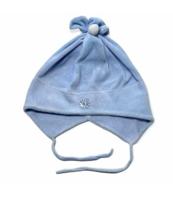 Kék kisfiú sapka (68-80)