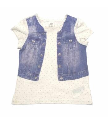 H&M kislány póló (80)