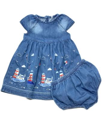 Tu kislány farmer ruha (68-74)