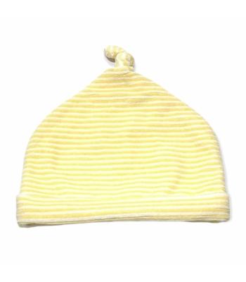 Sárga csíkos kislány sapka (74-80)