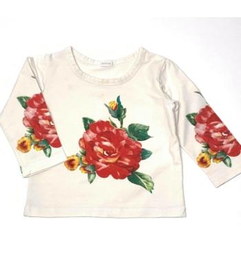 Virágos kislány pulóver (68-74)