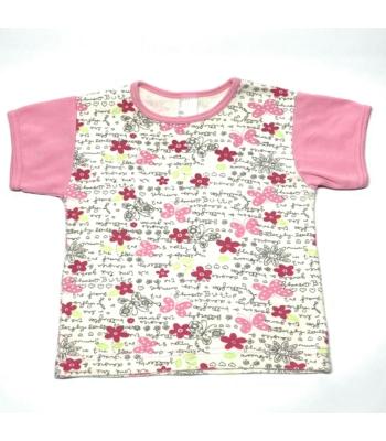 Virágos kislány póló (116)