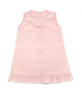 Halványrózsaszín kislány ruha (92)