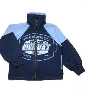Kék kisfiú pulóver (98)