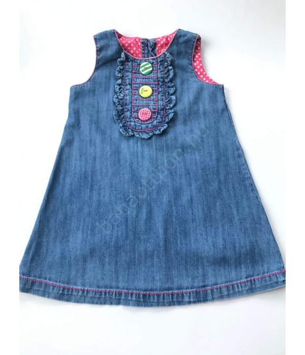 Next kislány farmer ruha (80-86)