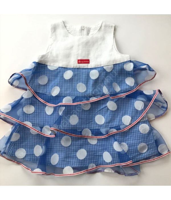 Pöttyös kislány ruha (74)