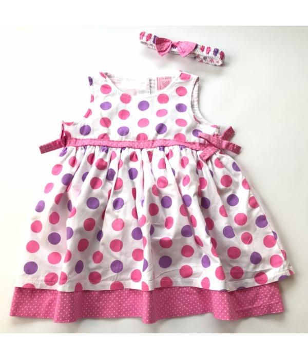Pöttyös kislány ruha (80)