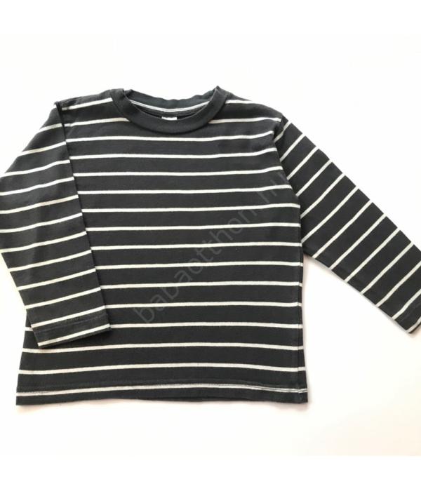 Csíkos kisfiú pulóver (92)