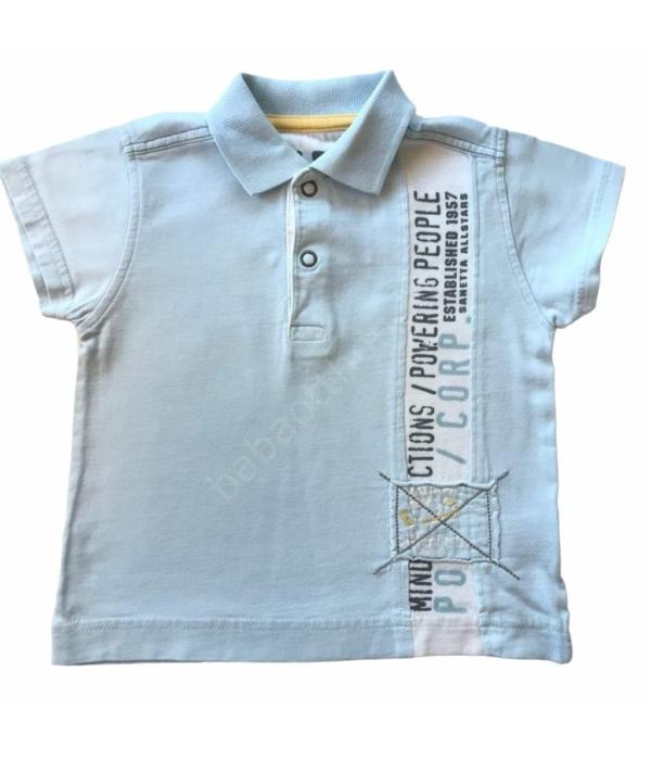 Halványkék kisfiú póló (74)