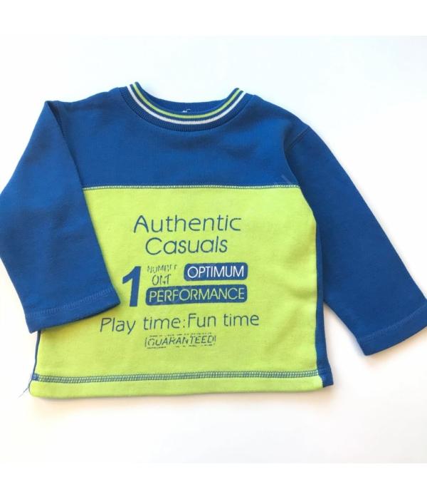 Feliratos kisfiú pulóver (68)
