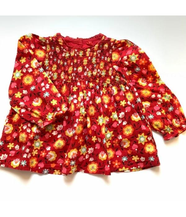 Virág mintás kislány ruha (86-92)