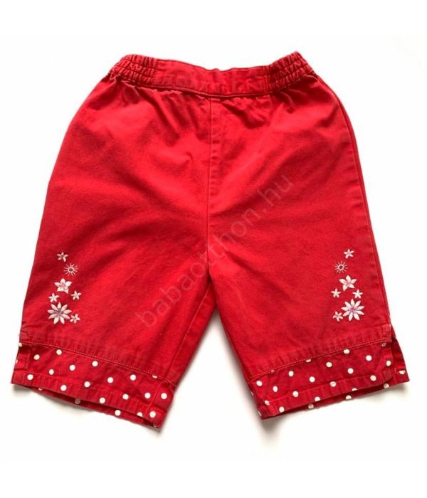 Piros kislány nadrág (74-80)