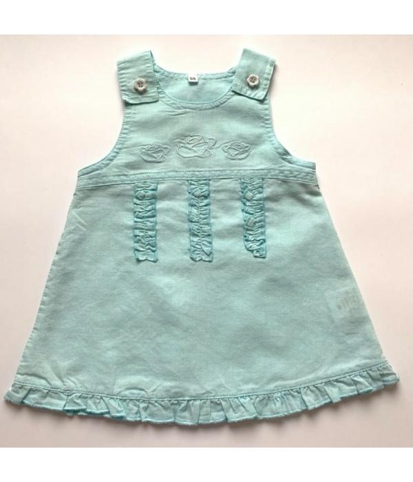 Halványmenta kislány ruha (56)