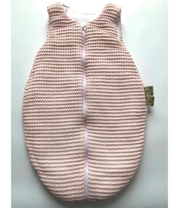 Halványrózsaszín kislány hálózsák (50-56)