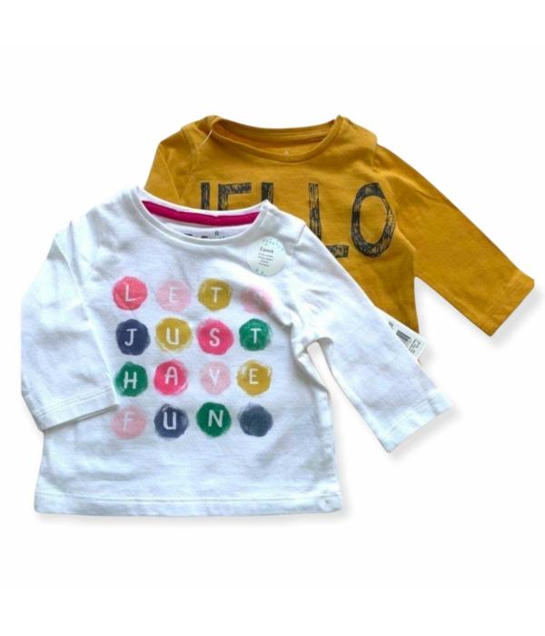 F&F kislány pulóver szett (86)