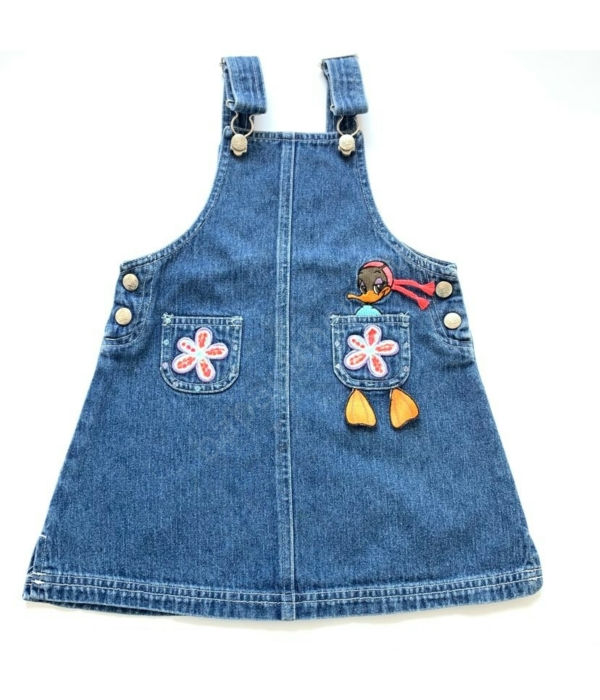 Kantáros kislány farmer ruha (98)